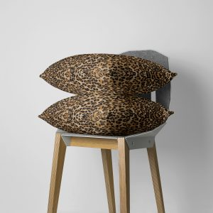 Beige Jaguar Stripe Throw Pillow