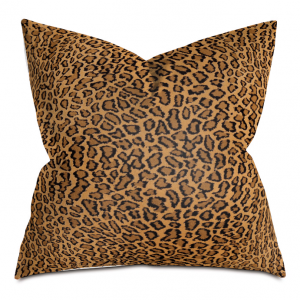 Beige Bobcat Stripe Throw Pillow