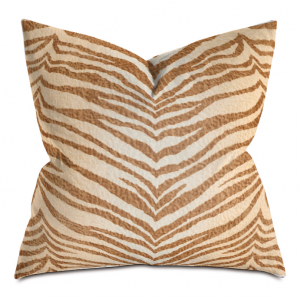 Beach Tiger Stripe Throw Pillow