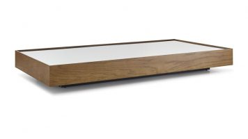 wood and mirror coffee table