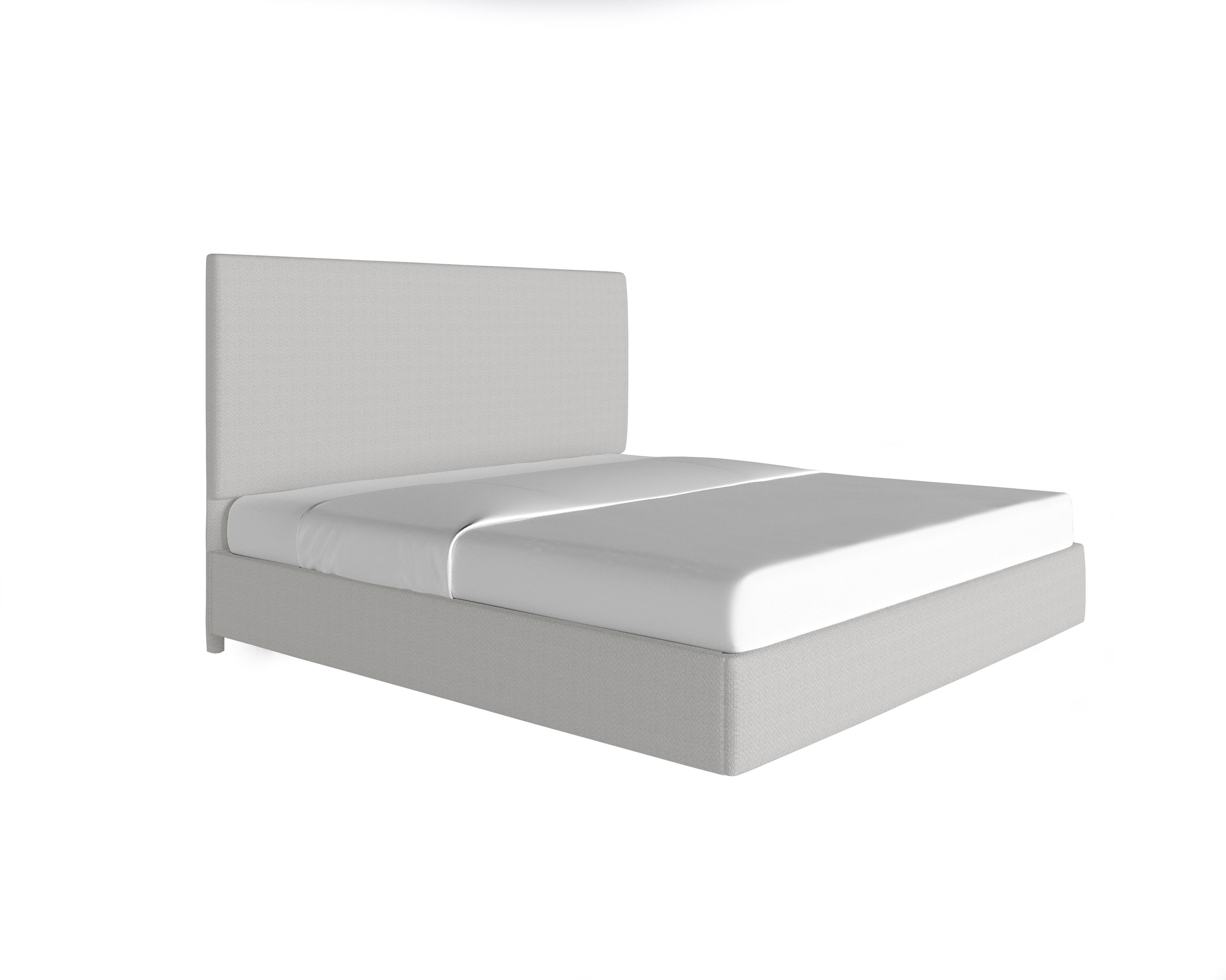 Picture of: Full Platform Bed Corner Nailheads Linen Shayna Rose Interiors
